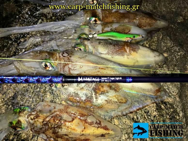 squid fishing eging rod psarema kalamariou apo vraxia carpmatchfishing