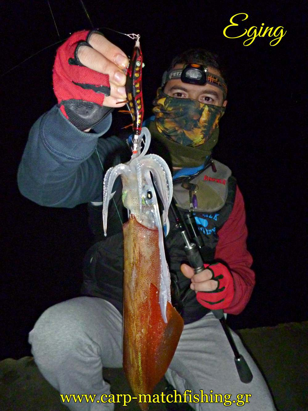 eging sfaltos squid jig carpmatchfishing