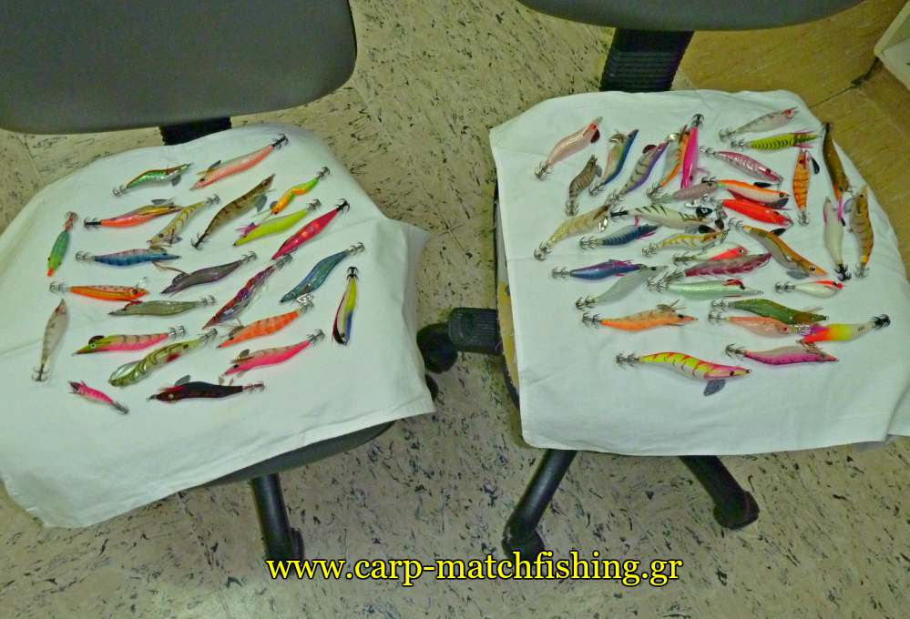 eging-cleaning-squid-jigs-dry-carpmatchfishing
