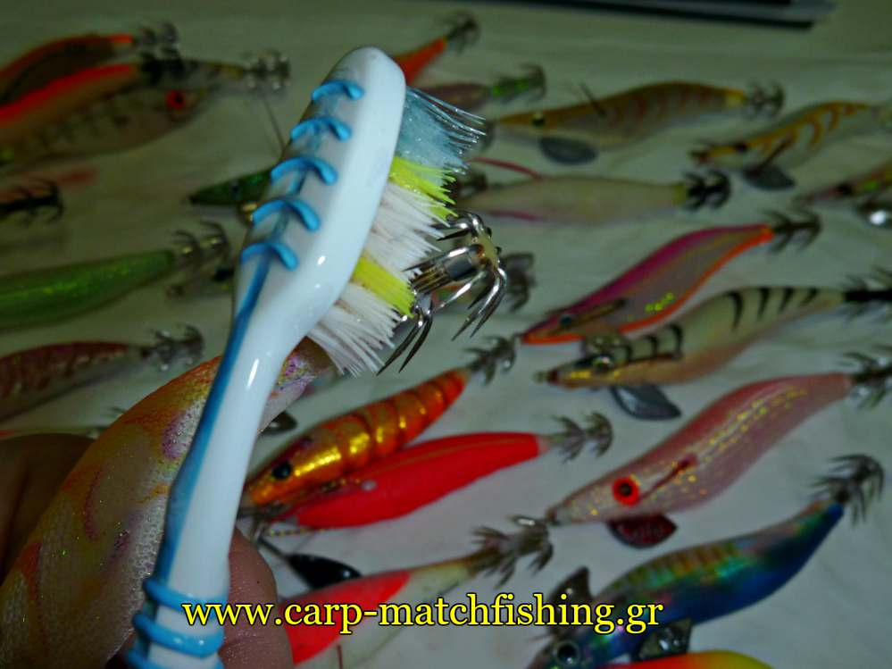 eging-cleaning-squid-jigs-spikes-carpmatchfishing