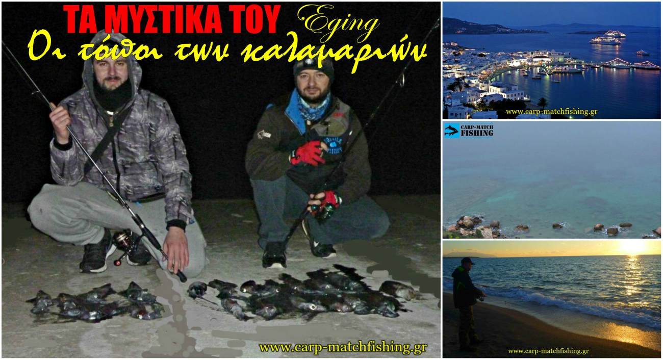 eging topoi kalamarion squid areas psarema carpmatchfishing