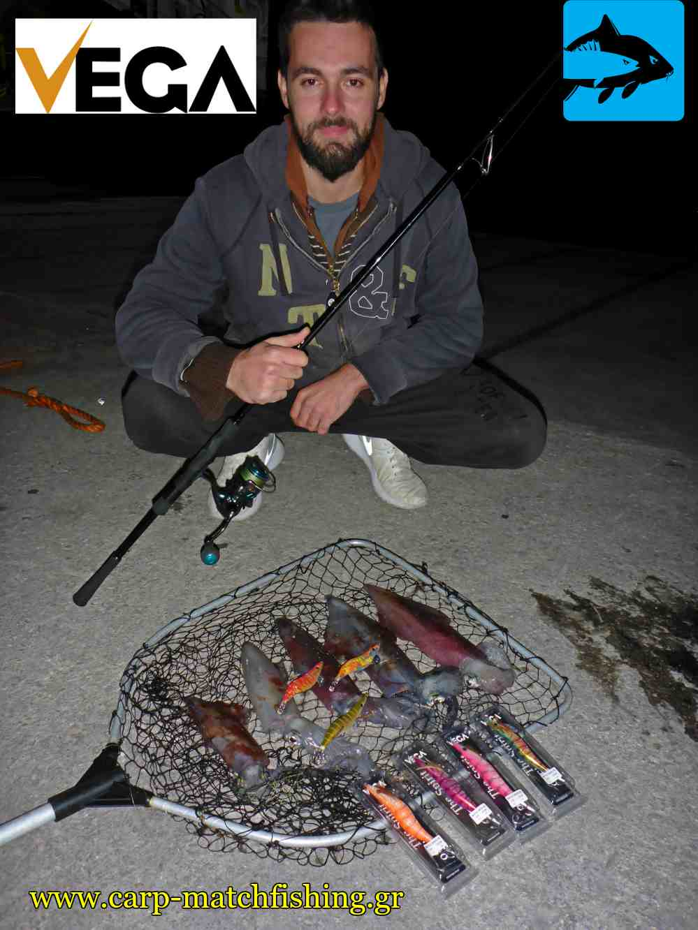 eging squids with vega rattle jigs pap carpmatchfishing