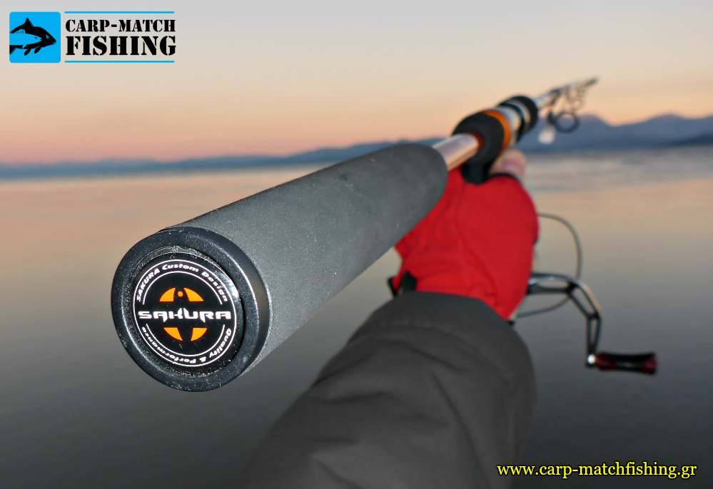 sakura sportism neo butt logo carpmatchfishing spinning rod